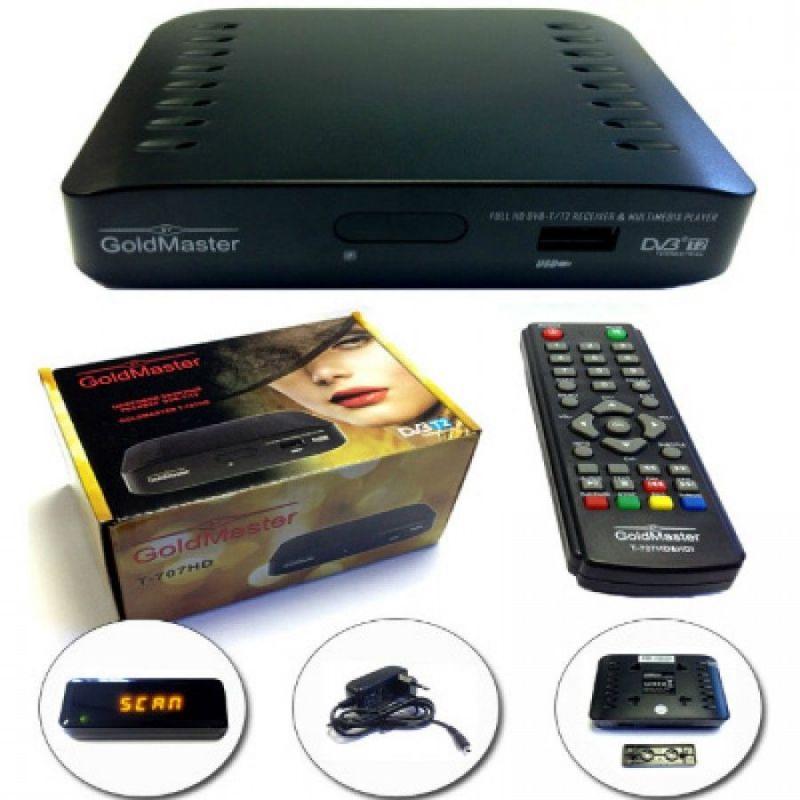 Цифровая приставка DVB-T2 GoldMaster T-707HD mini